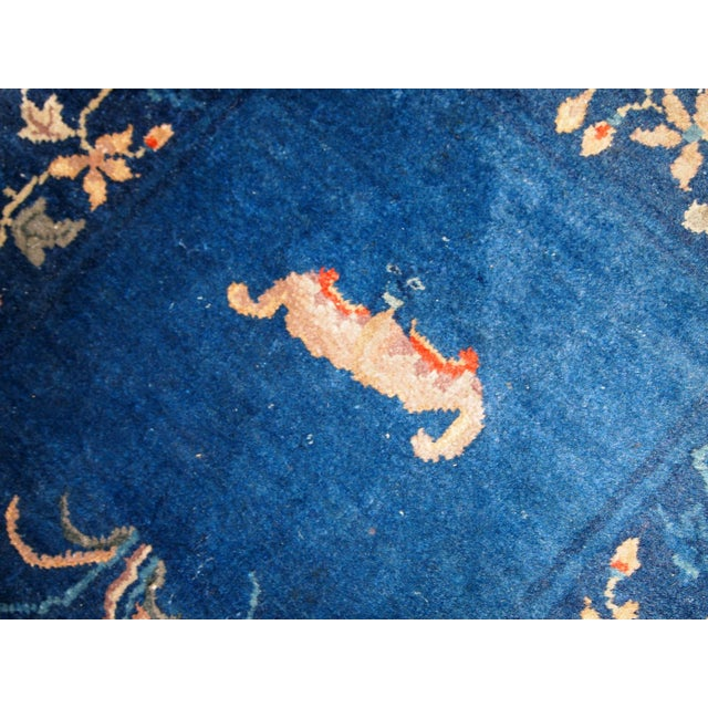 1920s, Handmade Antique Art Deco Chinese Rug 2.1' X 4.1' For Sale In New York - Image 6 of 7