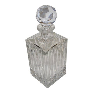 Rogaska Crystal Decanter With Engraved Signature For Sale