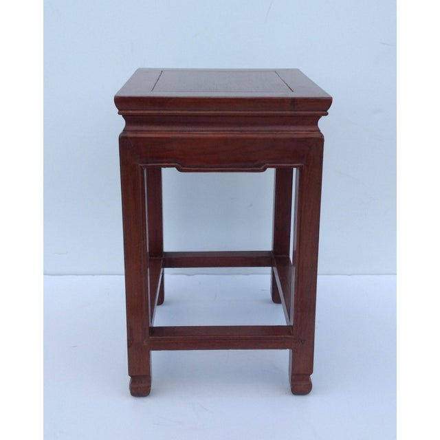 Asian Oak Low Occasional Side Table For Sale - Image 4 of 11
