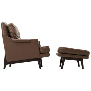Roger Sprunger Lounge Chair and Ottoman For Sale