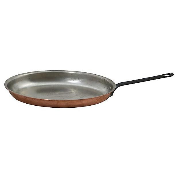 Oblong English Copper Saute Pan - Image 3 of 3