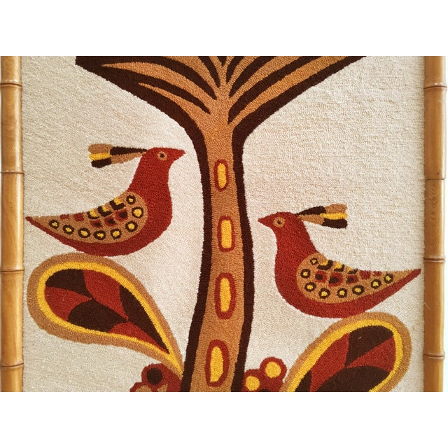 Boho Chic Luis Montiel Woven Rug Tapestry- 70s Botanical Textile Art For Sale - Image 3 of 9