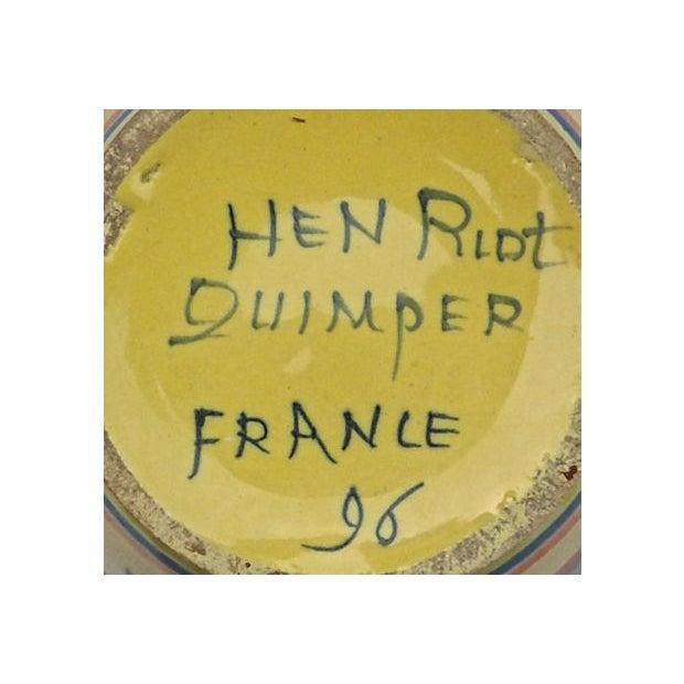 Vintage Henriot Quimper Maiden Tulipier Vase - Image 6 of 6