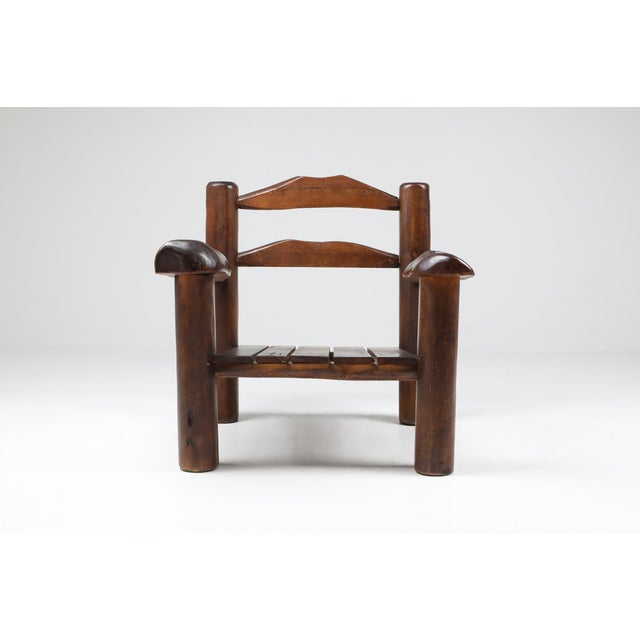 1950s Rustic Wooden Wabi Sabi Lounge Chairs For Sale - Image 11 of 11
