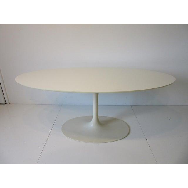 Burke Tulip Desk / Dining Table for Burke International For Sale - Image 10 of 11