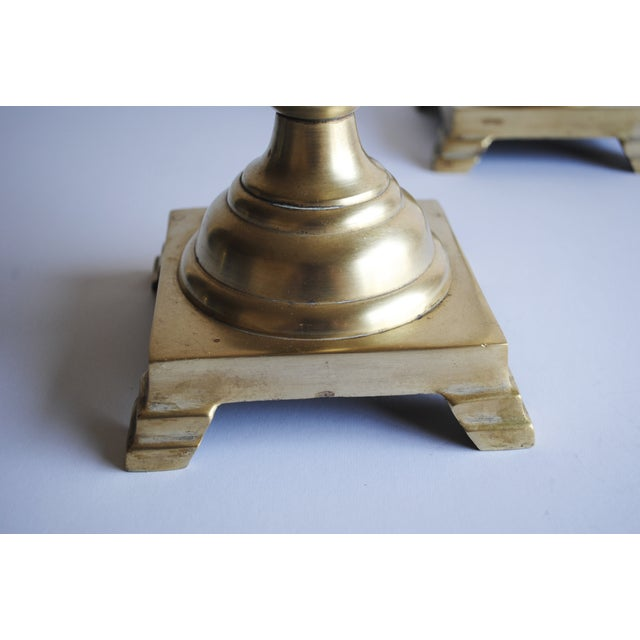 """18"""" Tall Vintage Brass Candle Holders - Image 5 of 5"""