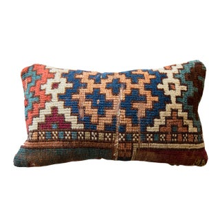 Reclaimed Vintage Rug Fragment Pillow For Sale