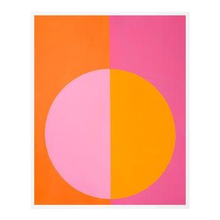 """Pink & Orange Forever"" Large White Framed Print by Stephanie Henderson For Sale"