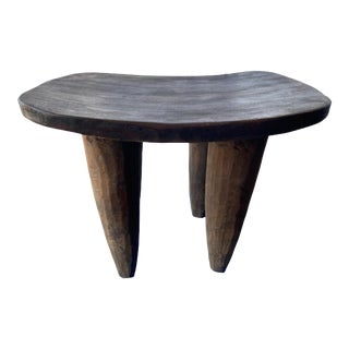 "African Senufo Stool / Table I Coast 17"" H by 23"" W For Sale"
