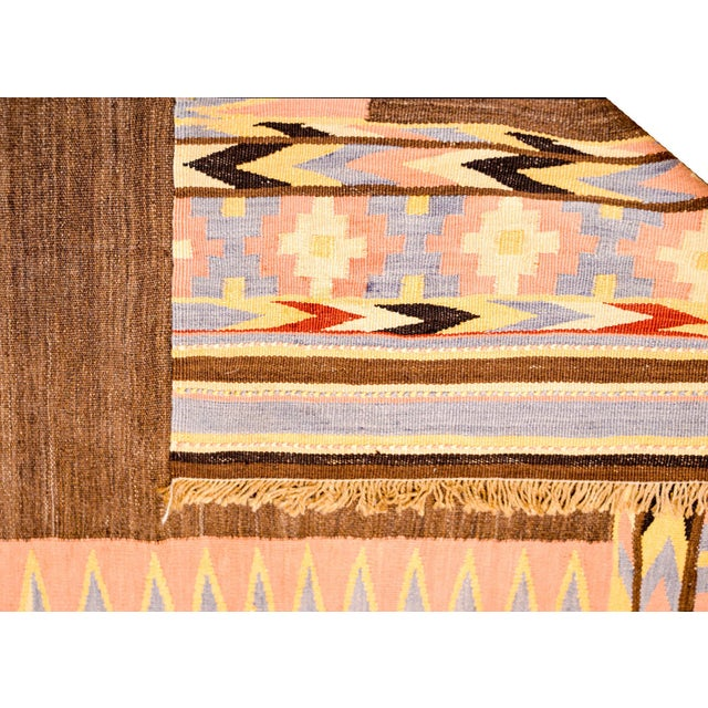 Brown Early 20th Century Shahsevan Kilim Rug For Sale - Image 8 of 9