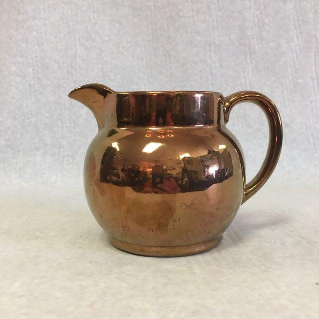 Ceramic Antique Copper Lustreware Jug For Sale - Image 7 of 7