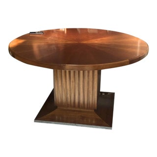 Lucien Rollin Spectacular Pure Large Round Dining Table With Central Foot For Sale