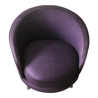 1989 Moroso Purple NewTone Oval Armchair