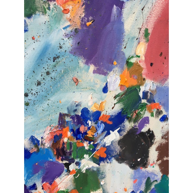 A gorgeous, large painting by emerging artist Sean Kratzert. Rich cool colors mix with warm colors to form a beautiful...