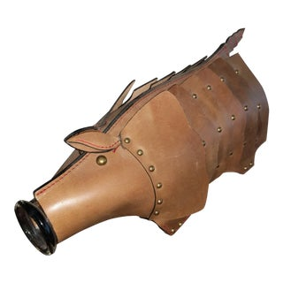 Anthropologie Leather Armadillo Carafe For Sale