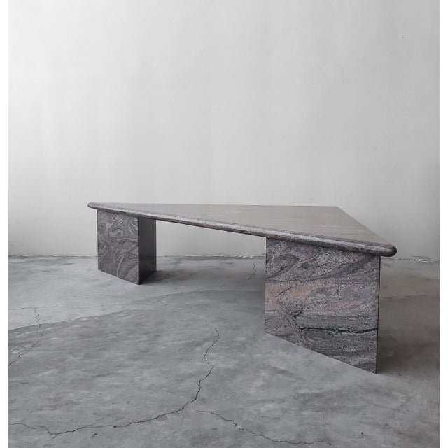 Post Modern Trianglular Coffee Table For Sale In Las Vegas - Image 6 of 9