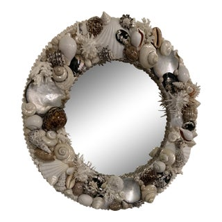 Shell Encrusted Wall Mirror For Sale