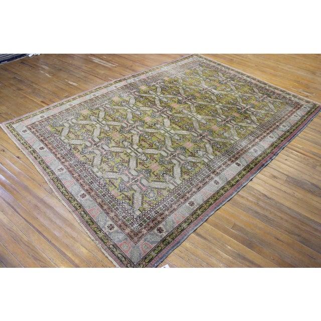 6.7x9.4 Feet Oriental Turkish Antalya Vintage Rug - Image 3 of 9