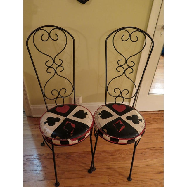 Salterini Style Bistro Chair Frames - A Pair - Image 2 of 3