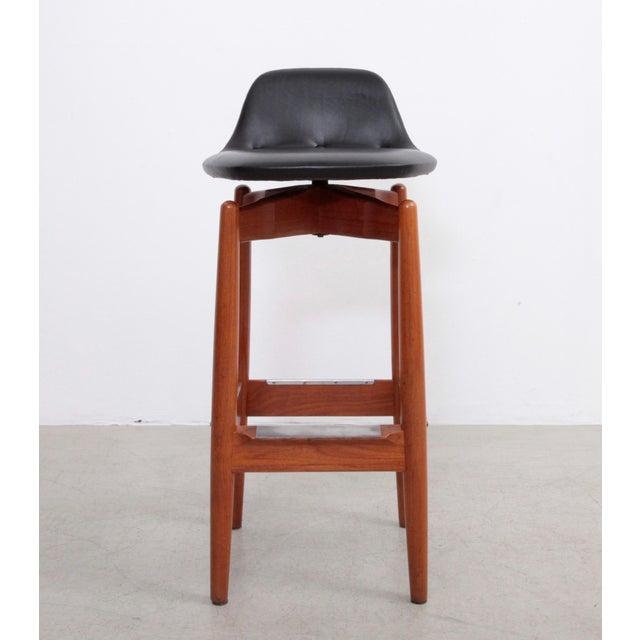 Pair of Arne Vodder Teak Bar Stools for Sibast Furniture For Sale - Image 9 of 9