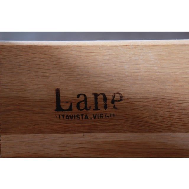 Lane Pueblo Brutalist Mid-Century Modern Oak Long Dresser or Credenza, 1970s For Sale - Image 12 of 13