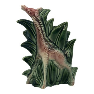 Mid Century Modern Hull Pottery Figural Giraffe Planter For Sale