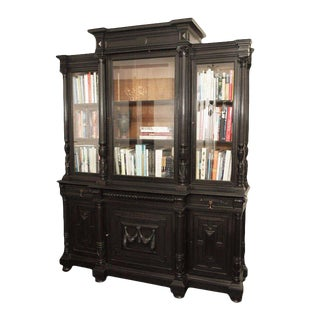 Impressive Napoleon III Breakfront Bibliotheque For Sale