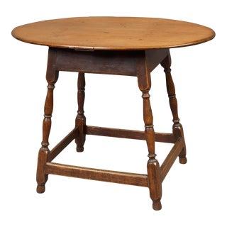Queen Anne Oval Top Tea Table