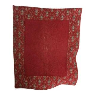 Antique French Provencal Quilt Fenetre Composition Textile C1830 Ramoneur For Sale
