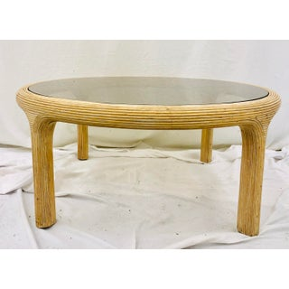 Vintage Mid Century Modern Pencil Reed Rattan Coffee Table Preview