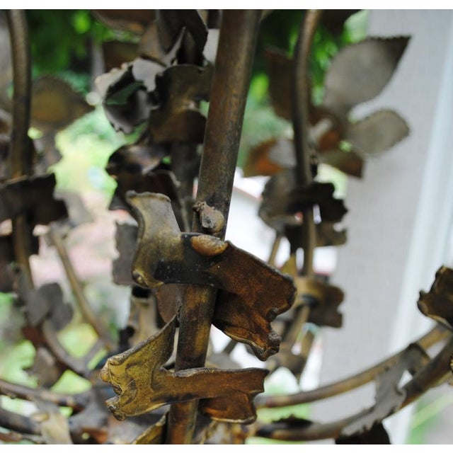 Mid-Century Feldman Brutalist Floral Chandelier Attributed to Tom Greene For Sale - Image 6 of 8