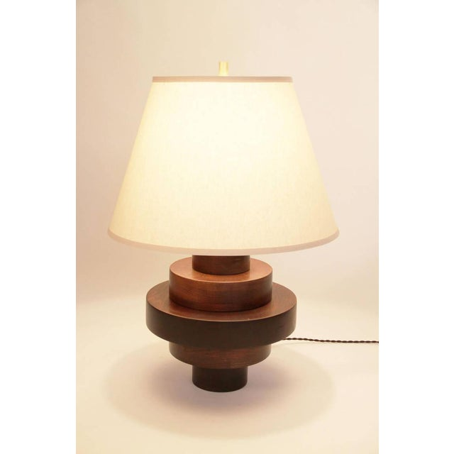 Wood Disc Table Lamp - Image 2 of 2