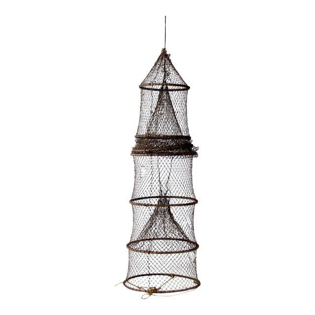 Vintage Fyke Fishing Net For Sale