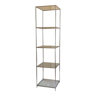 Vintage Abstracta System Glass Etagere Bookcase Poul Cadovius Free Standing Shelf For Sale