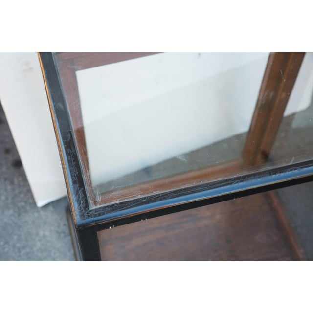 Black Ebonized Curio Cabinet For Sale - Image 8 of 9