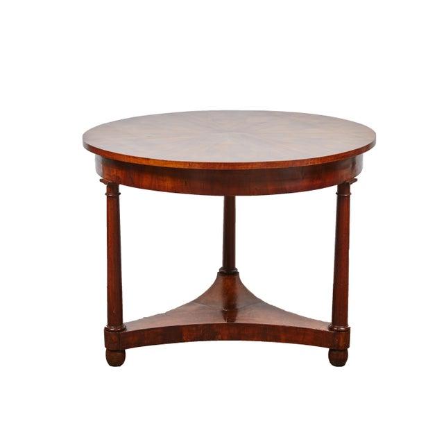 Italian Empire Deep Brown Walnut Center Table - Image 1 of 9