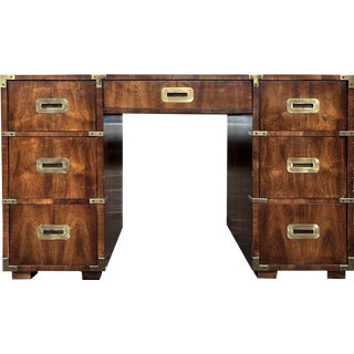 Henredon Campaign Partner Desk For Sale