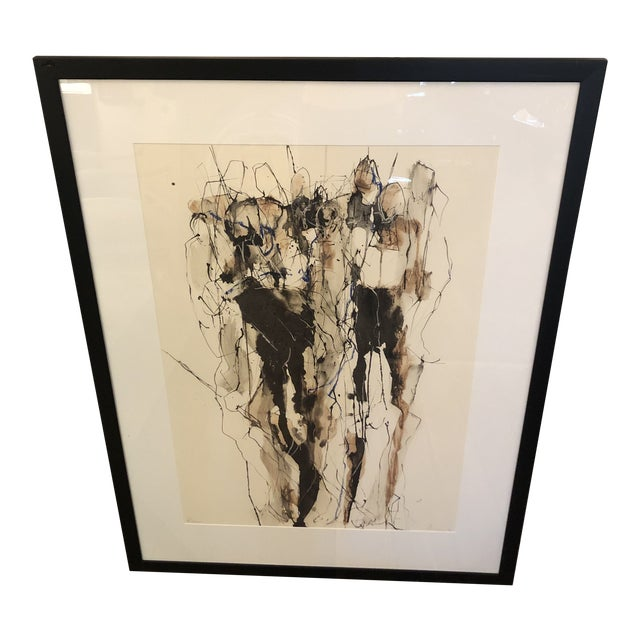 Limited Edition Signed Contemporary Figural Abstract Art For Sale