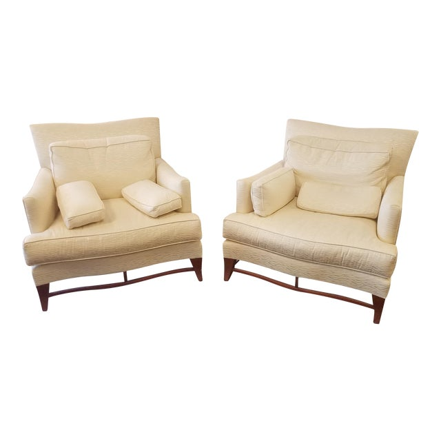Classic Donghia Victoire Club Chairs - a Pair For Sale