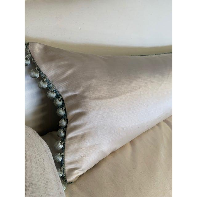 2010s Sora Velvet Lumbar Pillow With Ivory Silk Back For Sale - Image 5 of 10