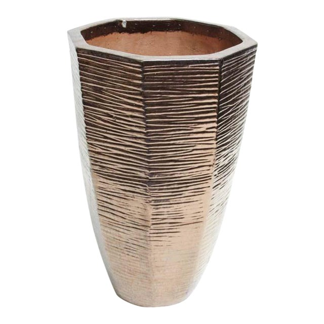 """Architectural Indoor Outdoor Oversize Planter Finished in Bronze 36"""" - Image 1 of 6"""