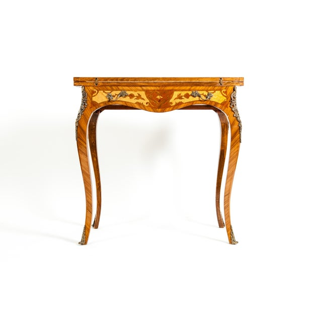 Kingwood / Mounted Bronze Details Card Table For Sale - Image 4 of 13