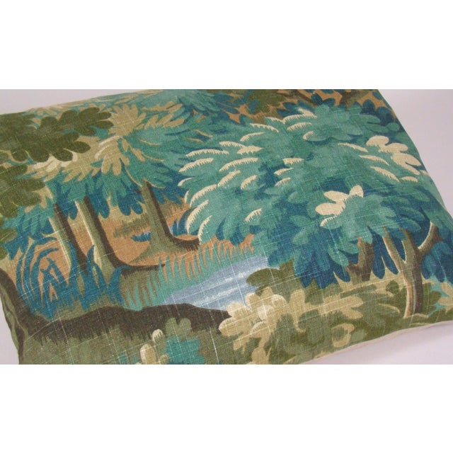 Verdure Print Linen Large Lumbar Pillow Cover For Sale - Image 4 of 11