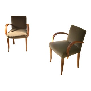 1930's Vintage French Deco Bridge Chairs- A Pair For Sale