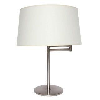 Minimalist Brushed Metal Swing Arm Desk Lamp For Sale