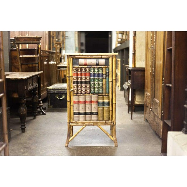 Late 19th Century Bamboo Cabinet with Faux Book Front Door For Sale In Raleigh - Image 6 of 6