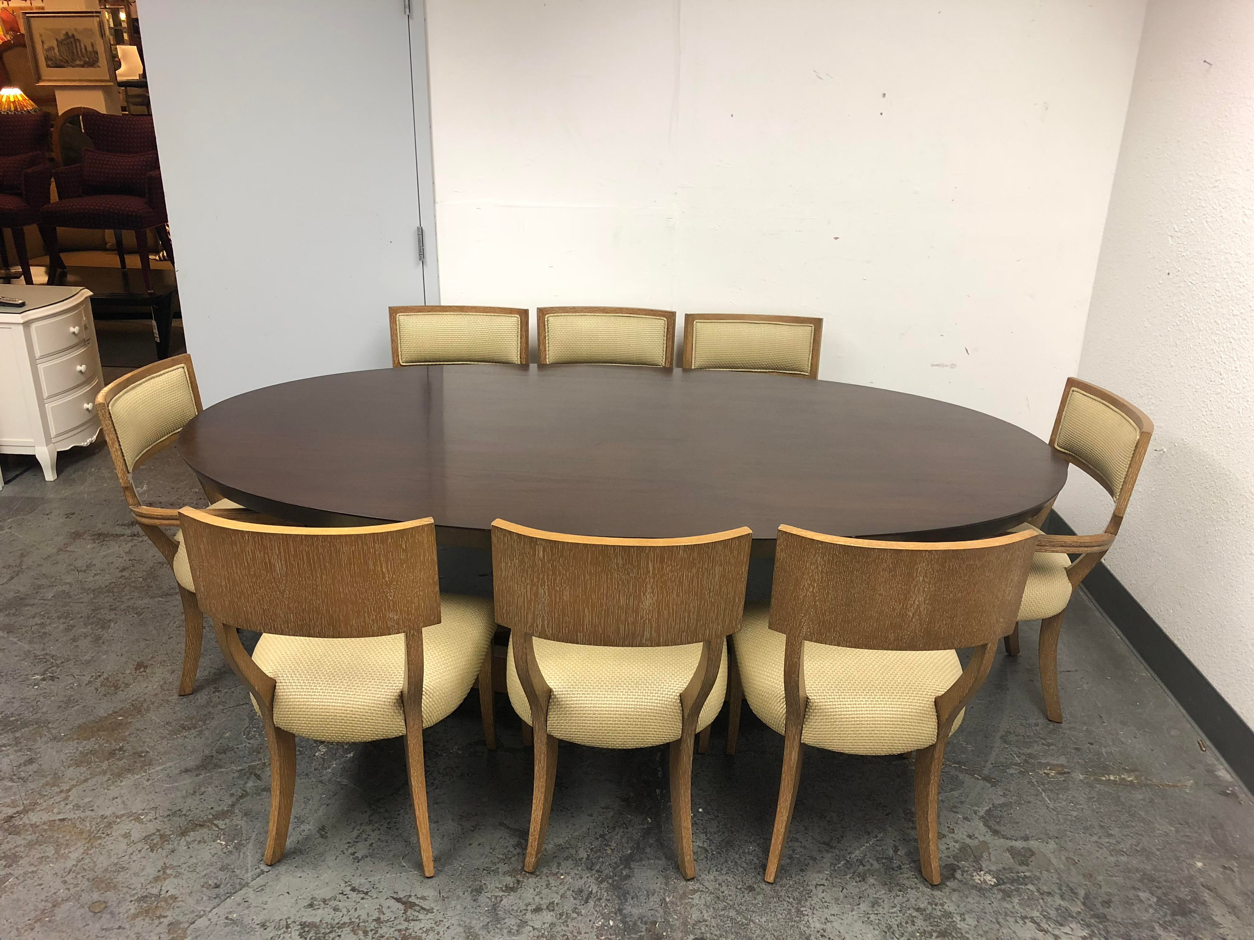 A Beautiful Dining Set By Michael Berman Limited. A Oval Mansfield Dining  Table In A