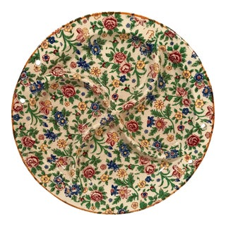 Antique Chintz Divided Plate For Sale