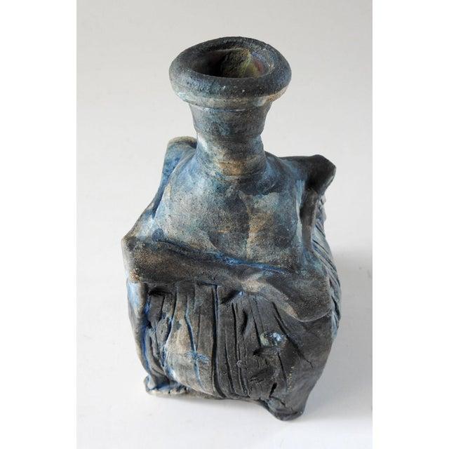 Studio Raku Pottery Bottle or Vase For Sale In San Antonio - Image 6 of 7