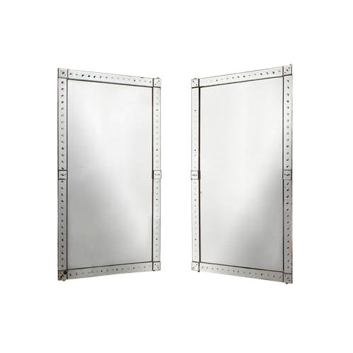 Late 20th Century Lovely Original Pair Large Venetian Mirrors With Mirrored Borders For Sale - Image 5 of 5